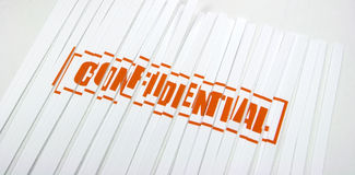 Confidential shredded paper Stock Image