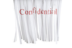 Confidential Shredder Stock Photo