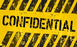 Confidential sign, vector eps 10 Royalty Free Stock Images