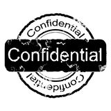 CONFIDENTIAL STAMP. Grunge ink stamp for design: confidential Royalty Free Stock Images