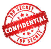 Confidential stamp Stock Photos