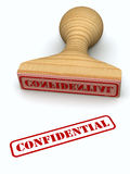 Confidential stamp. Test on white paper (High resolution 3d render Stock Photos