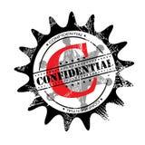 Confidential stamp stock illustration