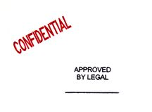 Confidential Stamp of Approval Stock Images