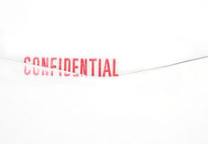 Confidential stamp on Envelope Royalty Free Stock Photos