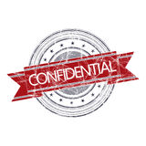 Confidential stamp. Confidential grunge rubber stamp on white Stock Photos