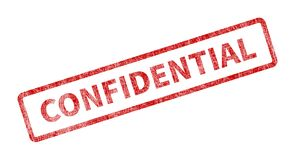 Confidential Stamp - Red Grunge Seal. Rubber stamp isolated on white background Royalty Free Stock Image