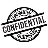 Confidential stamp rubber grunge Royalty Free Stock Photography