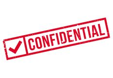 Confidential stamp rubber grunge Royalty Free Stock Images