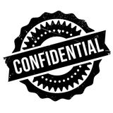 Confidential stamp rubber grunge Stock Images