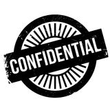 Confidential stamp rubber grunge Royalty Free Stock Image