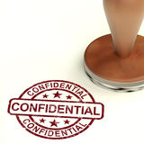 Confidential Stamp Showing Private Correspondence Stock Photos