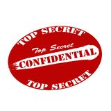 Confidential. Stamp with word confidential inside,  illustration Royalty Free Stock Photo