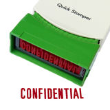 Confidential Stamper Stock Images