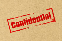 Confidential stamping Stock Images