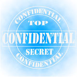 Confidential Top Secret Sign, Symbol or Stamp Royalty Free Stock Photos