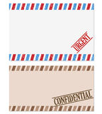 Confidential and urgent note. On white background Stock Photo