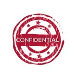 `Confidential` vector rubber stamp. Label design ready made template Vector Illustration