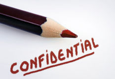 Confidential word Stock Image