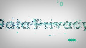 Confidentialité des données binaire de mots-clés illustration libre de droits