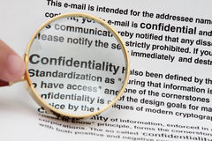 Confidentiality Royalty Free Stock Photo