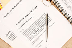 Confidentiality Agreement Stock Images