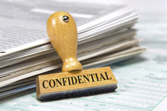 Confidentiel Image stock
