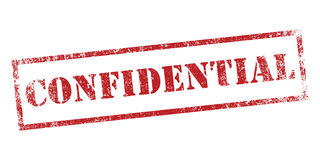 Confidentiel Photo stock