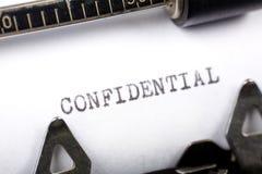 Confidentiel photographie stock libre de droits