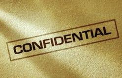 Confidentiel images stock