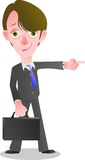 Confidently quick way towards success in the financial business. You can use this image  cartoon for your advertise business activity or cover book or t-shirt Royalty Free Stock Photo