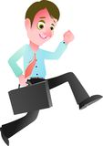 Confidently quick way towards success in the financial business. You can use this image  cartoon for your advertise business activity or cover book or t-shirt Royalty Free Stock Photos