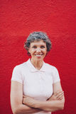 Confidently smiling mature woman Royalty Free Stock Photography