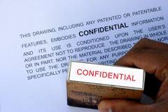 Confidenziale Fotografia Stock Libera da Diritti
