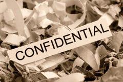 Confidenziale di carta tagliuzzato Immagini Stock