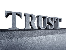 Confie a integridade financeira do símbolo do negócio da honra Foto de Stock