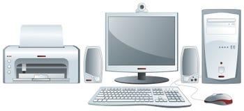 Configuração do computador de secretária ilustração stock