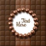 Configuração do plano do chocolate ilustração do vetor