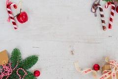 A configuração do plano do Natal denominou a cena Foto de Stock Royalty Free