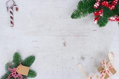 A configuração do plano do Natal denominou a cena Foto de Stock