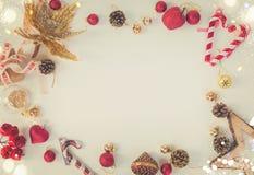 A configuração do plano do Natal denominou a cena Imagens de Stock