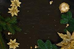 A configuração do plano do Natal denominou a cena Fotografia de Stock