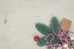 A configuração do plano do Natal denominou a cena Fotos de Stock Royalty Free