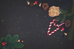 A configuração do plano do Natal denominou a cena Fotografia de Stock Royalty Free
