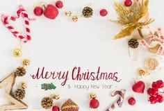 A configuração do plano do Natal denominou a cena Imagem de Stock Royalty Free