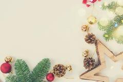 A configuração do plano do Natal denominou a cena Fotos de Stock