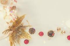 A configuração do plano do Natal denominou a cena Imagem de Stock