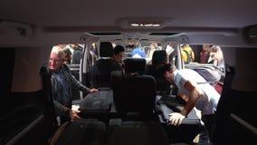 Configuração interior do assento do carro vídeos de arquivo