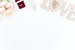 Configuração lisa denominada com ranunculos cor-de-rosa Foto de Stock Royalty Free