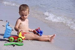 Configuração na praia Fotos de Stock Royalty Free